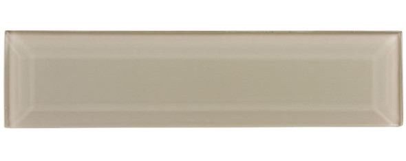 Gemstone Subway - GEM3002-SBWY Grey Moonstone - 3 X 12 Beveled Glass Plank Brick Subway Tile