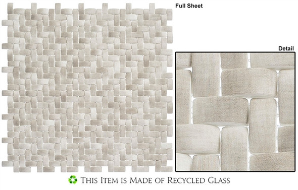 Summer Outing - SMO322 Koala - Basketweave Raised 3D Relief - Recycled Glass Mosaic