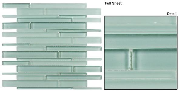 Cane - CN27 Gray Stone - Random Brick Linear Glass Tile Mosaic - Sample