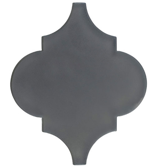 Glazzio Arabesque Glass Tile - Versailles VS-420FROSTED Smokey Road - Moroccan Style Glass - Matte Frost Finish