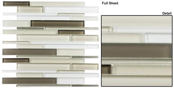 Cane - CN33 Cypress Green - Random Brick Linear Glass Tile Mosaic