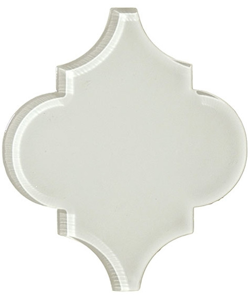 Arabesque Glass Tile - Versailles VS-421 White Tulip - Moroccan Style Glass - Gloss - Sample