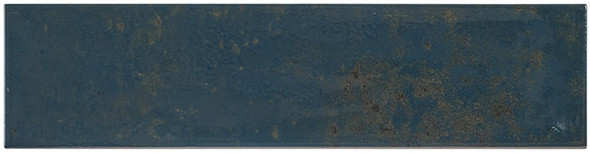 Iberian - IBR 9375 Navy Pallete - 4X16 Subway Brick Glazed Wall Tile - BULLNOSE FINISH TRIM