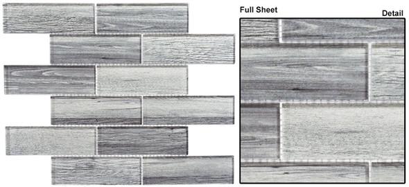 Westminster - WM 777 English Grey - 2 X 6 Subway Rectangle Brick Shape Glass Mosaic - Sample