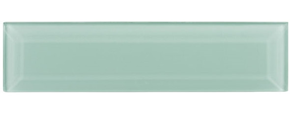 Gemstone Subway - GEM3005-SBWY Caribbean Topaz - 3 X 12 Beveled Glass Plank Brick Subway Tile