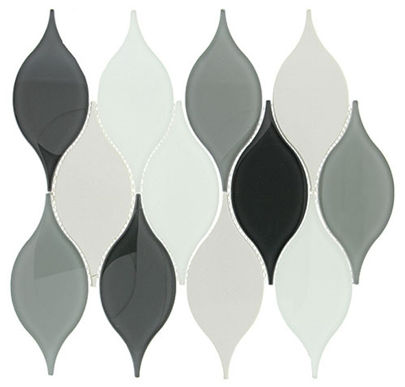 Windchime - WCS02 Morning Melody - Flame Shape Glass Mosaic Tile