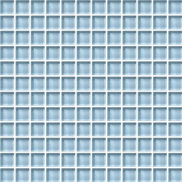 Daltile Color Wave Glass - CW13 Blue Lagoon - 1 X 1 Dal Tile Glass Tile - Glossy - Sample