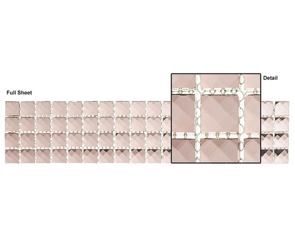 Kasbah - KS445 Moroccan Spice - 2.5 X 12 Jewel Mirror Glass Tile Mosaic Border Liner Strip - Sample
