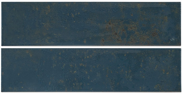 Iberian - IBR 9375 Navy Pallete - 4X16 Subway Brick Glazed Wall Tile - Sample