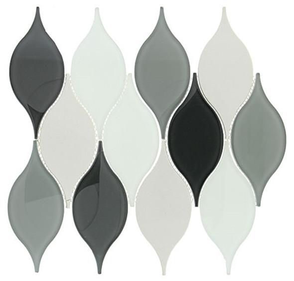 Windchime - WCS02 Morning Melody - Flame Shape Glass Mosaic Tile - Sample