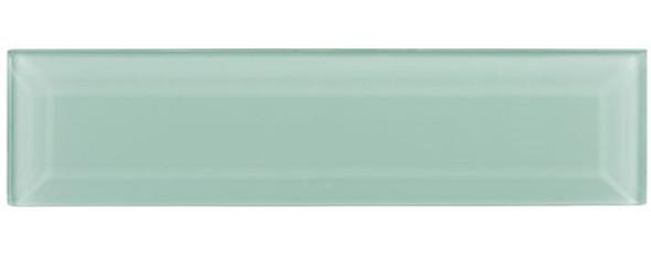 Gemstone Subway - GEM3005-SBWY Caribbean Topaz - 3 X 12 Beveled Glass Plank Brick Subway Tile - Sample