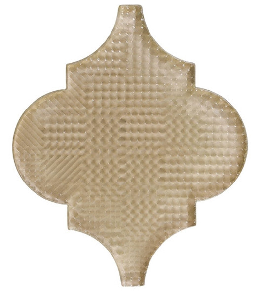 Glazzio Arabesque Glass Tile - Versailles VS-413TEXTURED Cloud Lining - Moroccan Style Glass - Gloss Textured