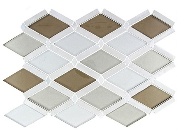 Supplier: Tile Store Online, Name: Falling Star, Color: Champagne Sky, Type: Glass & Metal Mosaic Tile, Size: Diamond