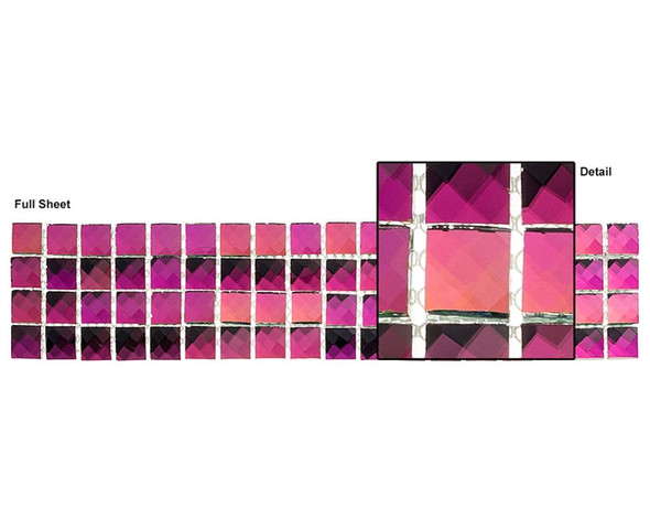 Kasbah - KS447 Moorish Spain - 2.5 X 12 Jewel Mirror Glass Tile Mosaic Border Liner Strip - Sample