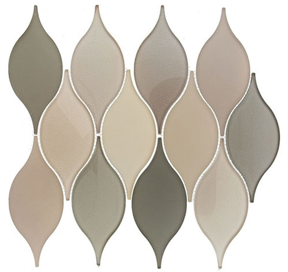 Windchime - WCS05 Musical Field - Flame Shape Glass Mosaic Tile
