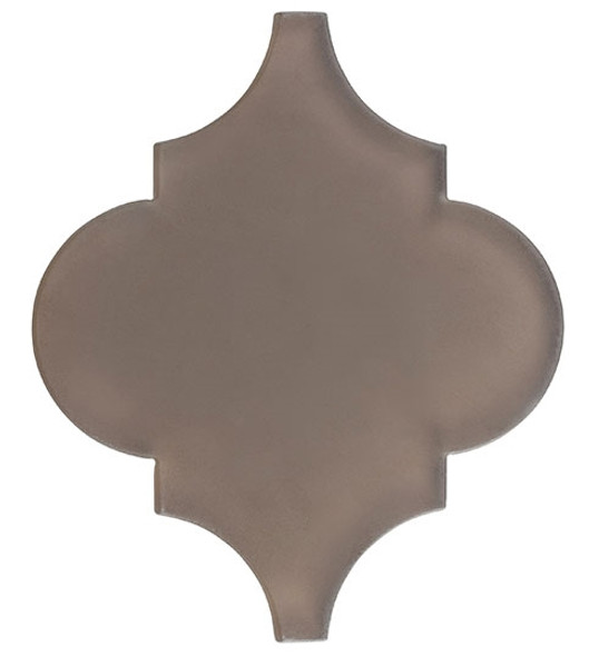 Glazzio Arabesque Glass Tile - Versailles VS-414FROSTED Dusty Trail - Moroccan Style Glass - Matte Frost Finish