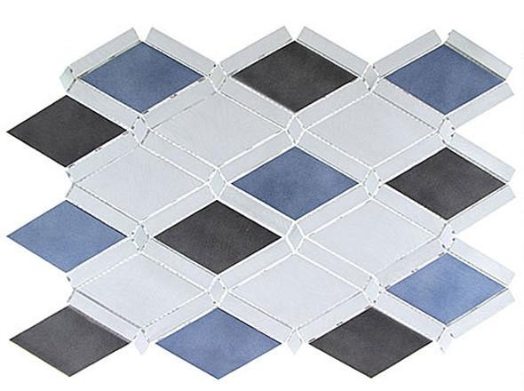 Supplier: Tile Store Online, Name: Falling Star, Color: Sleek Ceylon, Type: Aluminum Metal Mosaic Tile, Size: Diamond