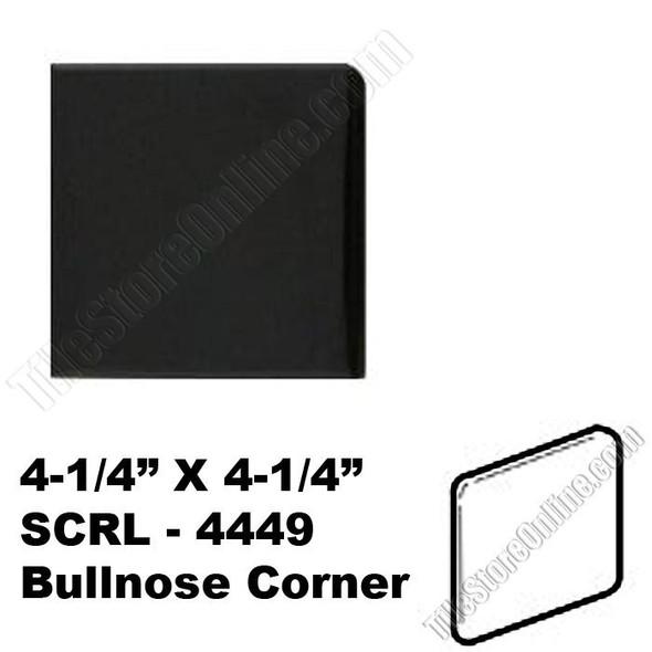 """Supplier: Daltile, Series: Semi Gloss Bullnose Corner, Name: K111, Color: Gloss Black, Category: Ceramic Tile, Price: $1.49, Size: 4.25""""X4.25"""""""