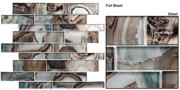 Magical Forest - MGF-624 Champinion - Random Brick Decorative Glass Mosaic Tile - Sample