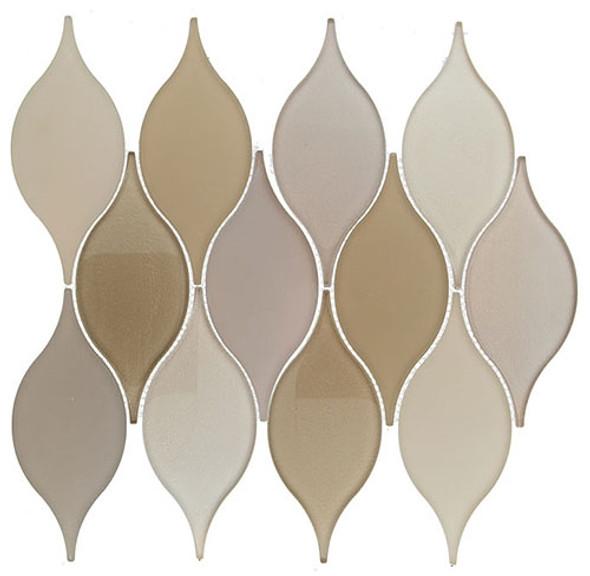 Windchime - WCS06 Soft Harmony - Flame Shape Glass Mosaic Tile - Sample