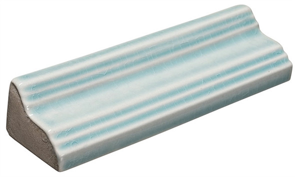 Lumiere - LMRM-8554 Marseille Aqua - 1-1/2 X 6 Crackle Glaze Porcelain - Chair Rail