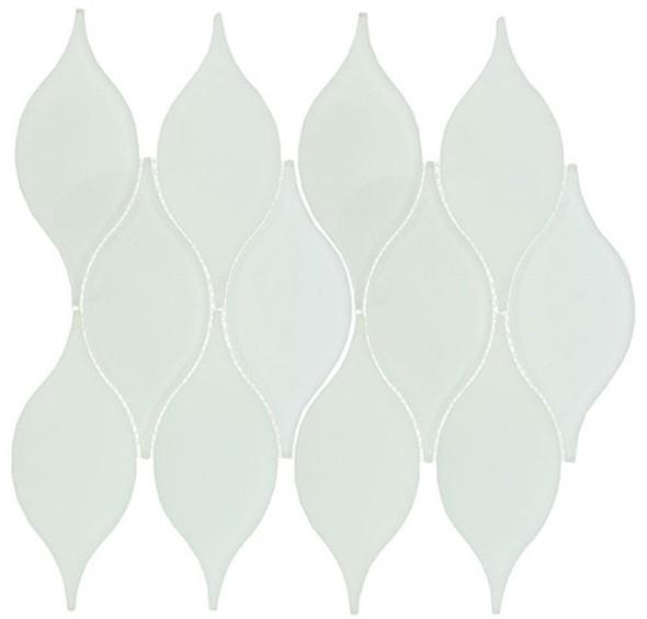 Windchime - WCS07 Cloudy Breeze - Flame Shape Glass Mosaic Tile