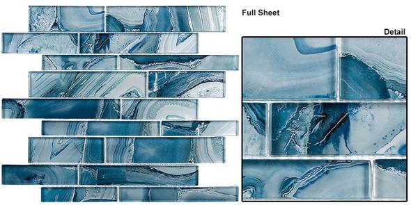 Magical Forest - MGF-625 Periwinkle Dust - Random Brick Decorative Glass Mosaic Tile - Sample