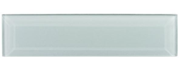 Gemstone Subway - GEM3007-SBWY Bahama Quartz - 3 X 12 Beveled Glass Plank Brick Subway Tile - Sample