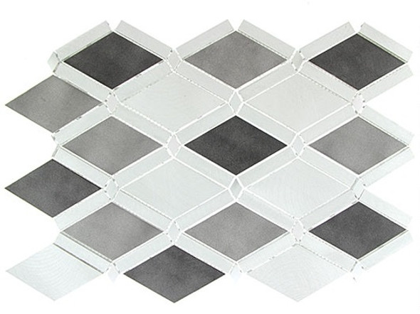 Falling Star - FGS-226 Platinum Moon - Aluminum Metal Mosaic Tile - Sample
