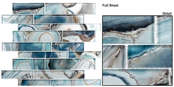 Magical Forest - MGF-626 Crystal Lagoon - Random Brick Decorative Glass Mosaic Tile - Sample