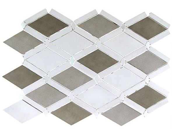 Supplier: Tile Store Online, Name: Falling Star, Color: Jupiter Chrome, Type: Aluminum Metal Mosaic Tile, Size: Diamond