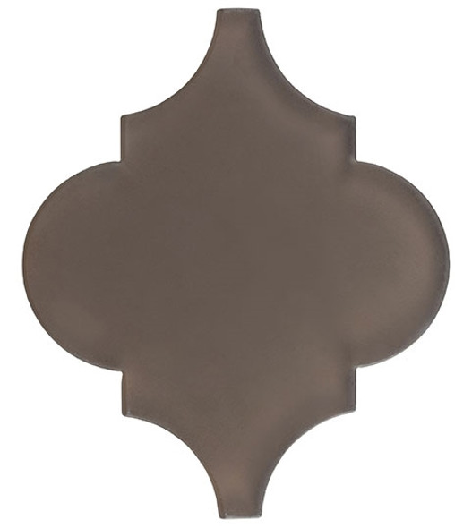 Arabesque Glass Tile - Versailles VS-415FROSTED Antique Mahogany - Moroccan Style Glass - Matte Frost Finish - Sample