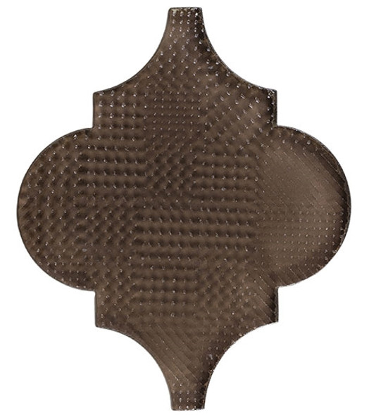 Glazzio Arabesque Glass Tile - Versailles VS-415TEXTURED Antique Mahogany - Moroccan Style Glass - Gloss Textured