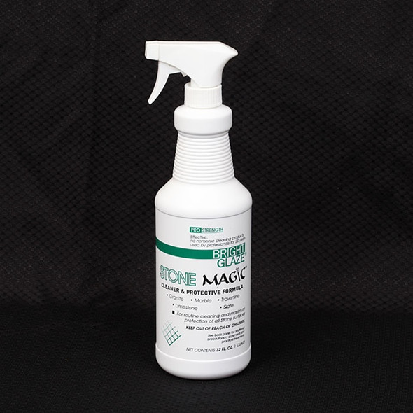 Supplier: Bright Glaze, Type: Natural Stone Cleaner, Series: Natural Stone Cleaners and Sealers, Name: Stone Magic Natural Stone Cleaner and Protector, Category: Cleaners and Sealers, Size: Quart
