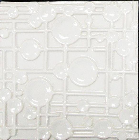 Bristol Studios - Nouveau - G2454 Paris Blanc White Relief Deco - 8X8 Hand Crafted Decorative Tile - $6.95