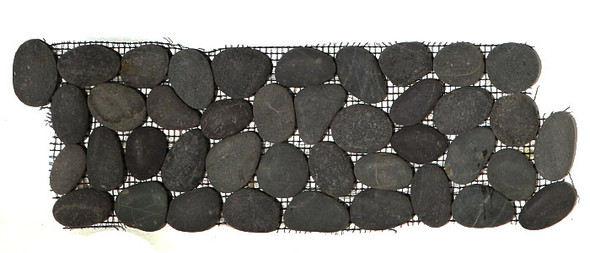 Supplier: Tile Store Online, Name: Island Rock Swarthy Black Pebble Stone Border Liner