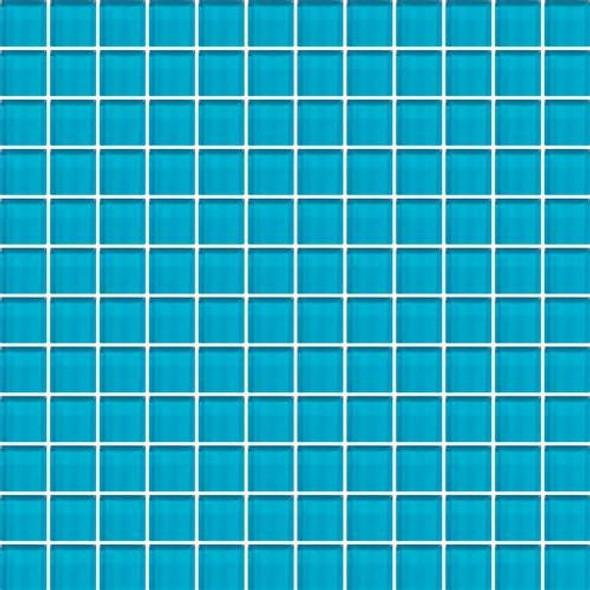 Daltile Color Wave Vibrant Glass - CW32 Capri Breeze - 1 X 1 Dal Tile Glass Tile - Glossy - Sample