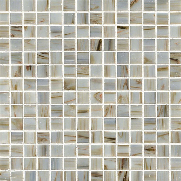 MS International - Ivory 3/4 X 3/4 Glass Mosaic Tile - Iridescent
