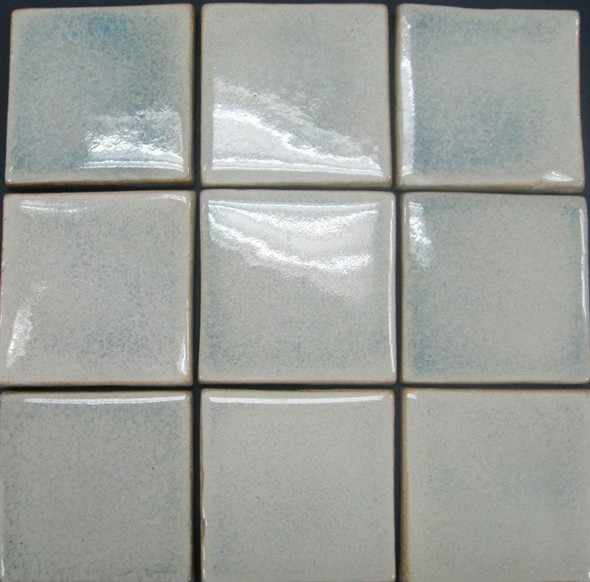Bristol Studios - Brushstrokes - G2456 Frost - 4X4 Hand Crafted Decorative Tile - $7.99