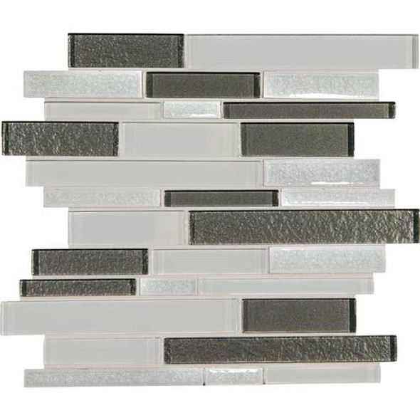 Supplier: Daltile, Series: Crystal Shores, Name: CS93 Diamond Delta Blend, Category: Jewel Crackle Glass Tile Mosaic, Size: Random Interlock