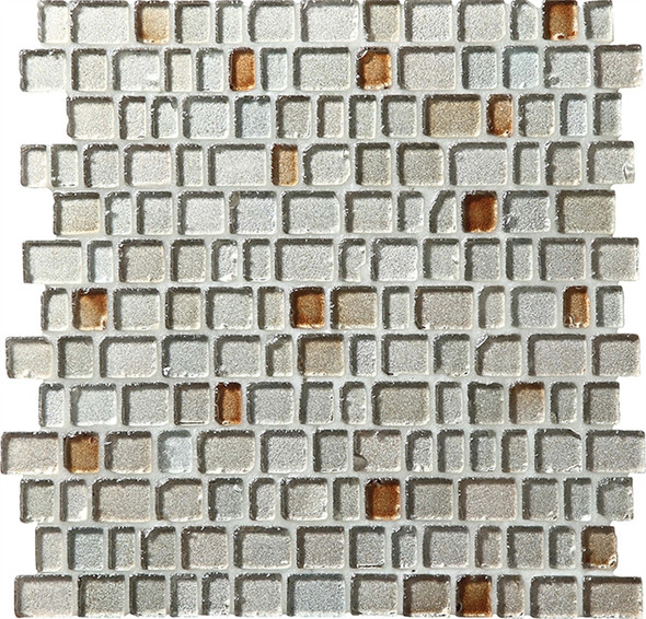 Supplier: Daltile Fanfare, Series: Jewel Tide, Name: JT01 Sparkling Sand - Tumbled Sea Glass Glossy, Category: Glass Tile Mosaic , Size: 3/4 X Random