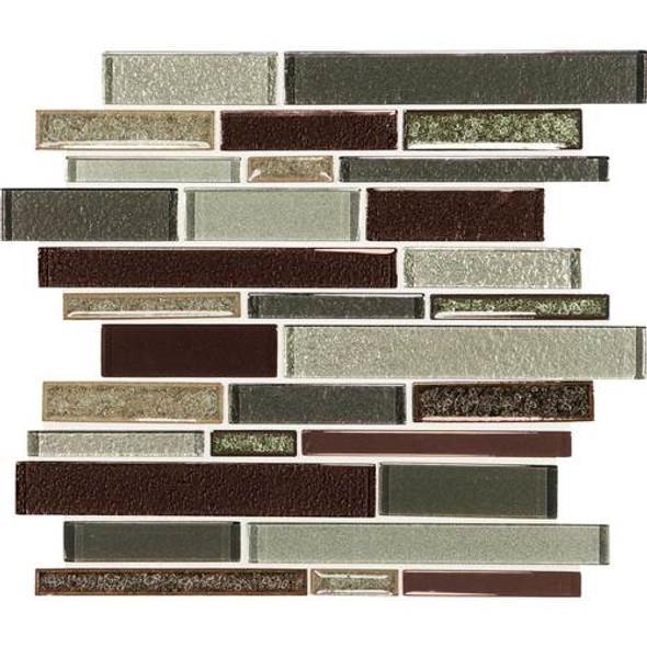 Supplier: Daltile, Series: Crystal Shores, Name: CS94 Hazel Harbor Blend, Category: Jewel Crackle Glass Tile Mosaic, Size: Random Interlock