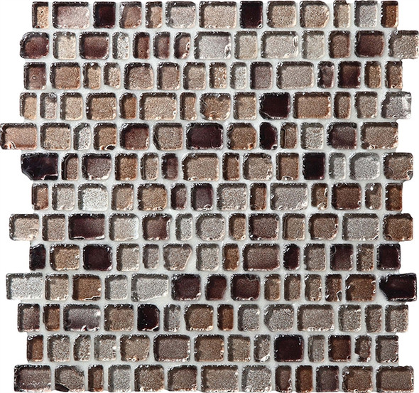 Supplier: Daltile Fanfare, Series: Jewel Tide, Name: JT02 Beach Pebble - Tumbled Sea Glass Glossy, Category: Glass Tile Mosaic , Size: 3/4 X Random