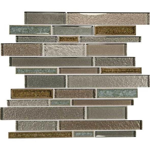 Supplier: Daltile, Series: Crystal Shores, Name: CS95 Sapphire Lagoon Blend, Category: Jewel Crackle Glass Tile Mosaic, Size: Random Interlock