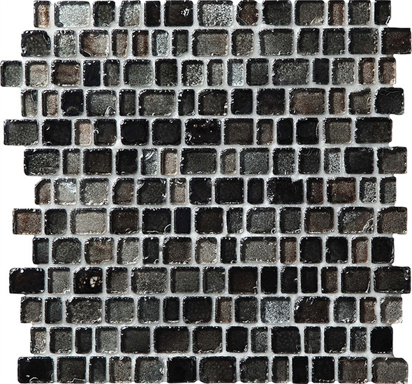 Supplier: Daltile Fanfare, Series: Jewel Tide, Name: JT04 Sea Glass Shimmer - Tumbled Sea Glass Glossy, Category: Glass Tile Mosaic , Size: 3/4 X Random