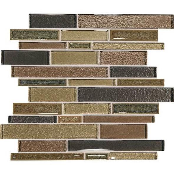 Supplier: Daltile, Series: Crystal Shores, Name: CS98 Aurelian Seas Blend, Category: Jewel Crackle Glass Tile Mosaic, Size: Random Interlock