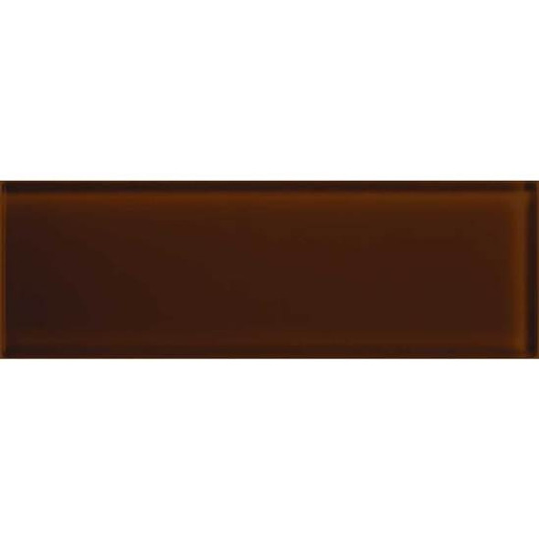 Supplier: American Olean, Series: Color Appeal Glass, Name: C114 Copper Brown - Glossy, Type: Brick Subway Glass Tile, Size: 4X12