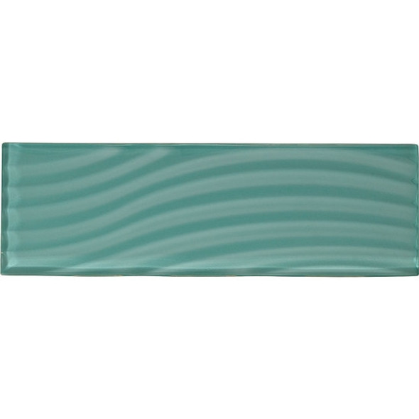 Supplier: American Olean, Series: Color Appeal Entourage Glass, Name: C108 Fountain Blue - Glossy, Type: Brick Subway Glass Tile, Size: 4X12