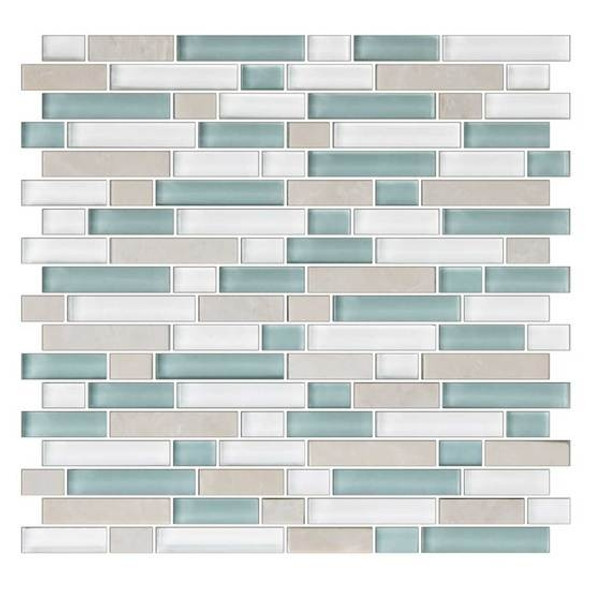 Supplier: American Olean, Series: Color Appeal Glass, Name: C136 Pacific Coast Blend - Glossy, Type: Glass Tile Mosaic, Size: 5/8 X Random