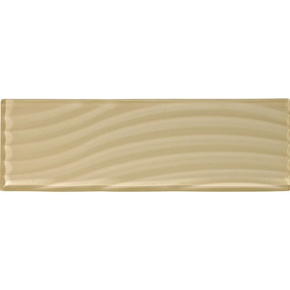 Supplier: American Olean, Series: Color Appeal Entourage Glass, Name: C104 Cloud Cream - Glossy, Type: Brick Subway Glass Tile, Size: 4X12